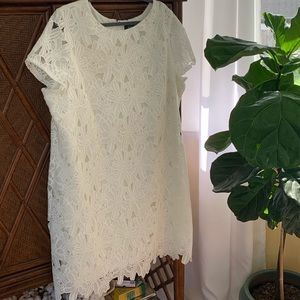 Beautiful white lace shift dress